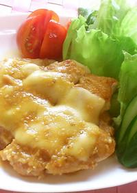 鶏肉の胡麻味噌チーズソテー