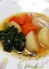 新玉葱と根菜何でも煮