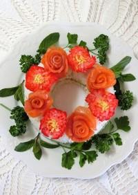 アンチエイジング*母の日お花の寿司ケーキ