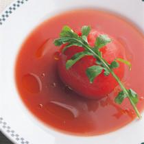 トマトの詰めもの スープ仕立て