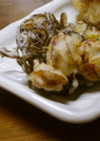 日本、北と南の海 ほたてともずくの天ぷら