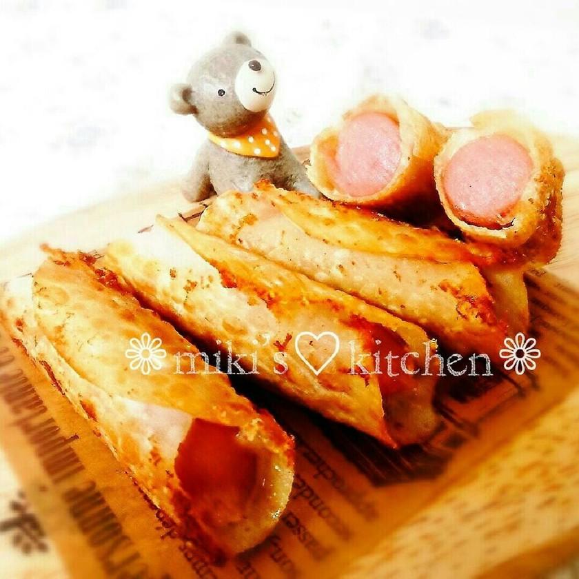 餃子の皮♡ウインナーとチーズ巻き♡