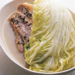 白菜と豚バラ肉の煮込み