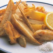 根菜とチキンのフリッツ