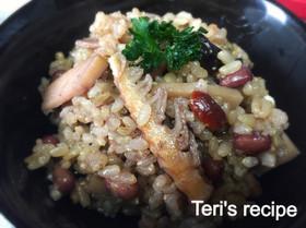 雑穀玄米のタケノコ炊き込み御飯