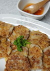 タケノコと長芋のふわふわ焼き