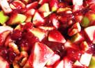 クランベリーソースチキンアップルサラダ