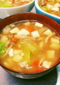 栄養満点シャキシャキ食感絶賛中華スープ
