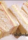お弁当簡単ハムチーズサンドイッチ 運動会