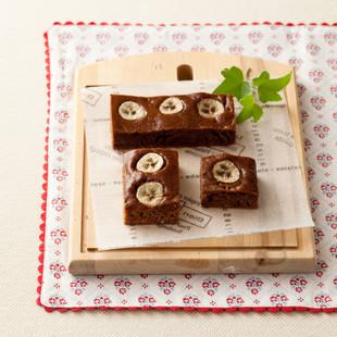 バナナのチョコきな粉ケーキ