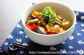 お酢でさっぱり☆豚肉と夏野菜の南蛮丼