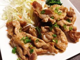 ポン酢で簡単豚ロース薄切り肉の生姜焼き