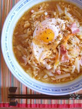 キャベツなラーメン*野菜ベーコン卵編