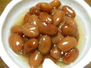 炊飯器(保温水筒)で煮豆●黒・きんとき豆の写真