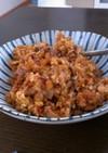 豆腐とささみの肉味噌