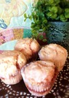 ピンクのイチゴジャム蒸しパン
