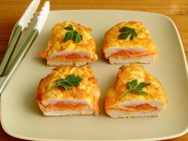鶏肉の明太チーズ入りピカタ