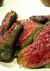 ピーマンの肉詰め❤甘照りソース