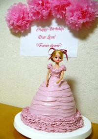 米粉の★りかちゃんドールケーキ★祝誕生日