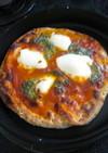 南部鉄鍋の蓋で魚焼きグリルでピザを焼く