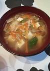 残った切り干し大根の煮物で和風スープ!