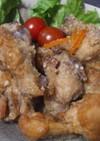 圧力鍋で時短、骨付き鳥唐揚げ&鶏スープ