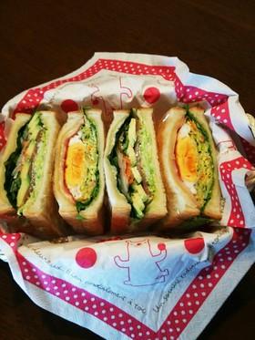 サンドイッチ!家の沼さんサンド風♪…2種