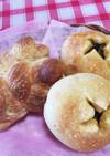 高菜パン&三つ編みパン