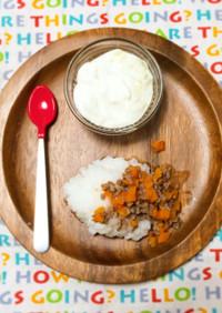 離乳食 中期【牛丼とヨーグルト】