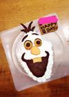 オラフの立体ケーキ★