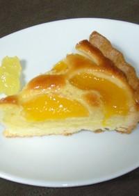 簡単☆美味☆黄桃アーモンドクリームタルト