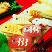子どもの日に♪鯉のぼりにぎり寿司の写真
