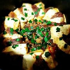 ピリ辛*牛肉と豆腐のすき焼き風