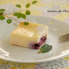 ブルーベリーのベイクドチーズケーキ♡