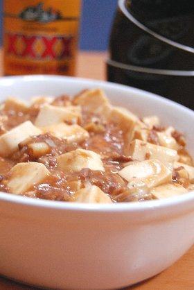 コドモと食べる麻婆豆腐。