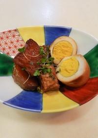 三枚肉のブロックと大根の煮物