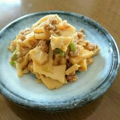 タケノコの肉味噌炒め