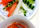 コチュジャンマヨネーズで野菜スティック