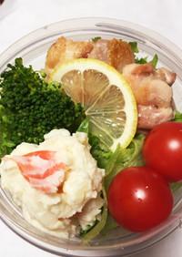 お弁当のジャーサラダ(チキンソテー入り)