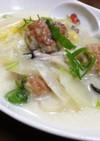 ワンルームご飯★白菜と肉団子のクリーム煮