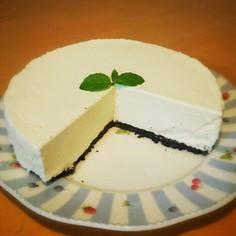 オレオで♪レアチーズケーキ
