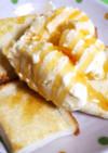 食パンとアイスの超簡単デザート