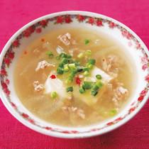 ひき肉と豆腐のスープ