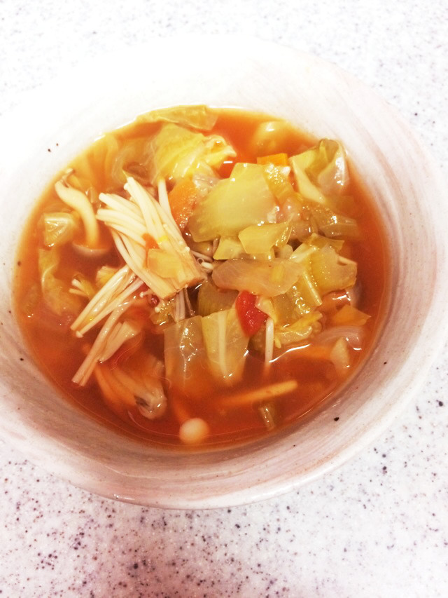 ダイエット!適当流トマト&野菜のスープ
