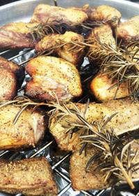 BBQで!豚スペアリブのスモーク