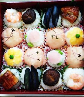 お弁当に安心*生モノ無しで手まり寿司