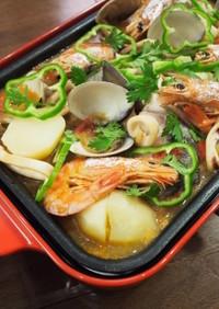 【ポルトガル料理】魚介のカタプラーナ風