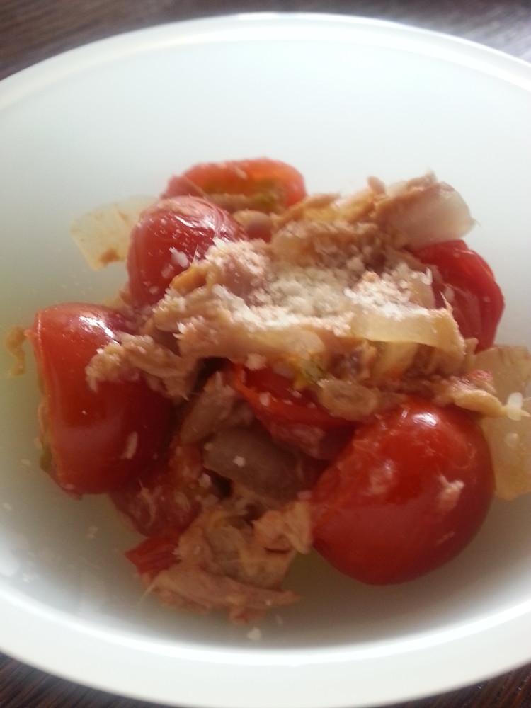 簡単幼児食!トマトツナ炒め