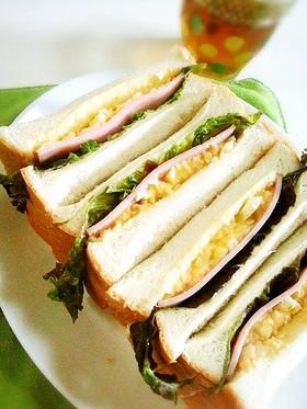 6枚入食パンで簡単サンドイッチ