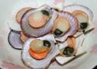 レンジでホタテの稚貝の酒蒸し